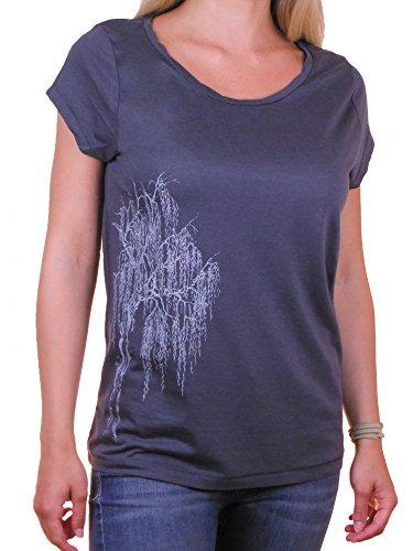 Fairwear Tencel Shirt Women Inka Grey Silberweide aus Tencel und Biobaumwolle von Life-Tree Größe M (Shirts Fruchtbarkeit)