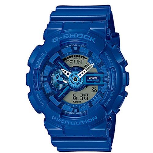Casio - GA-110BC-2AER - Montre Mixte - Quartz Analogique et digitale - Bracelet Résine Bleu