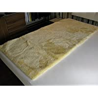 Medizinische Lammfell Betteinlage Bettfell Schaffell Patch 70x140cm (Kinderbett)