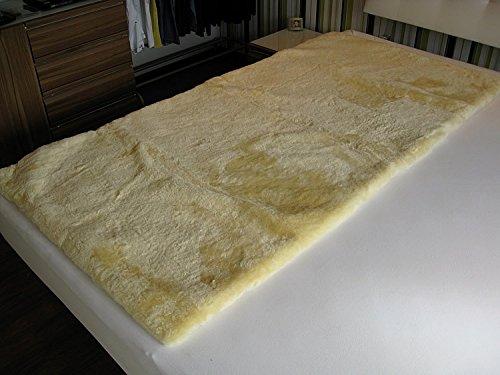 Medizinische Lammfell Betteinlage Bettfell Schaffell Patch 90x190cm (medizinisch gegerbt)