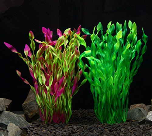 iNeith Fish Tank Plant Water Grass Aquarium Artificial Plastic Colorful Decor Ornament Decoration Submarine Pack of 5 7