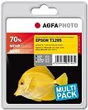 AgfaPhoto APET128SETD - Kompatible Tinte für Epson BX305F (4), 1 x 9 ml schwarz, cyan/magenta/gelb