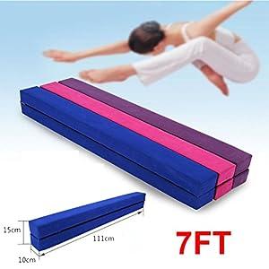 2,2M Gymnastik Zusammenfaltbar Schwebebalken Strapazierfähige 3 Farben (Blau)