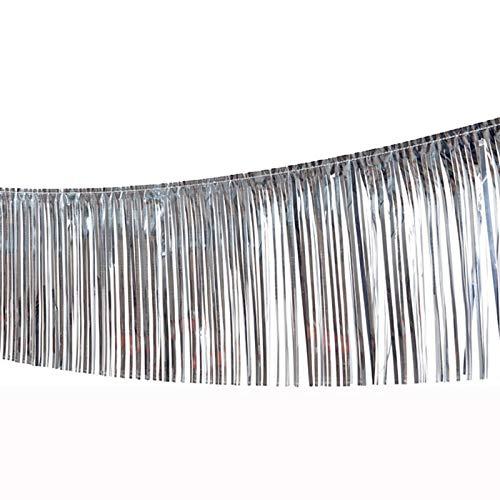 PARTY DISCOUNT Girlande Lametta, 10m, Silber PREISHIT