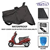 #9: Fabtec Premium Quality Waterproof Scooty Body Cover With Heavy Buckle Lock & Microfiber Glove For Honda Activa 4G
