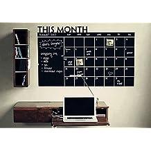 AWAKINK pizarra calendario con Memo pared extraíble resistente al agua vinilo adhesivo para pared vinilo adhesivo decorativo para pared Art Fashion