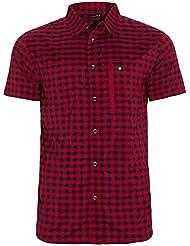 Ternua Echon Camisa, Hombre, Rojo (Burgundy Checks), M