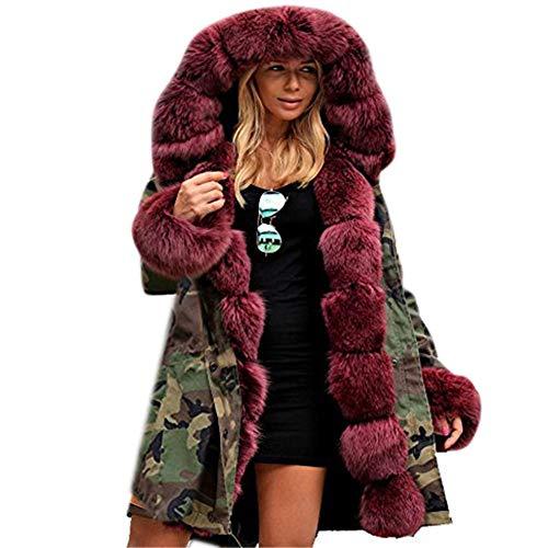 Abrigo de Pieles Larga, BBestseller Invierno Slim Fit Abrigo Hooded Casual con Chaqueta de algodón Capa Jacket Parka Pullover Outwear
