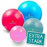 55cm bis 85cm Gymnastikball Büroball Fitnessball Robuster Sitzball Pilatesball / sehr hohe Belastbarkeit / 9x Farben (grün blau rot pink lila silber schwarz gelb türkis) / inklusive Luftpumpe (Ballpumpe) / Anti-Burst Technology (berstsicherer Ball) / ideal zum Rehasport, Balanceübungen, Koordinationsübungen ! Rutschfeste Oberfläche, geruchsfreie Materialien (PVC) ideal für Yoga, Fitness, Balance Pilates / 85 cm / lila