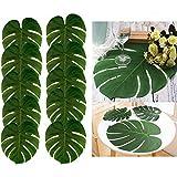 48pcs Grande artificielle Feuilles de palmier Tropical, 13,8par 29cm, Hawaiian Luau Party Jungle Motif plage Décoration pour décoration de table Accessoires