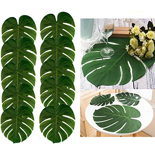 Graze Choice 24große künstliche Tropical Palm, bleibt, 13,8von 29cm, Hawaiian Luau Party Jungle Beach Thema Dekorationen für Tisch Dekoration Zubehör