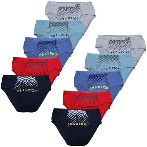 PiriModa 10 STÜCK Jungen Baumwolle Slips Unterhosen (146-152 (10-12Jahre), Modell 2-10 STÜCK) -