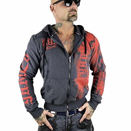 Yakuza Waiting Death con cappuccio giacca HZB 10027Ebony ebano