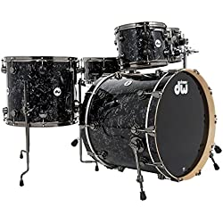 DW Collectors Maple Drum Kit Black Velvet, Black Nickel