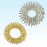 2 x 2er Fingermassageringe Akupressur Energie-Ring Massageringe Gold klein und