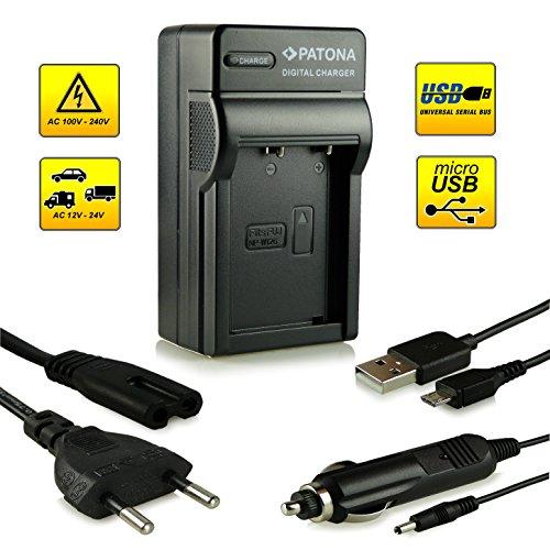 Neuheit - 4in1 Ladegerät mit micro USB Anschluss · 100{67d42f7c3c7729cae425bcf31f2477fcd8b9c4b6d8fd821d6ea4aef8838d1911} kompatibel mit NP-W126 Akkus für FujiFilm FinePix X-Pro 1   HS30 EXR   HS30EXR   HS-30EXR   HS33 EXR   HS33EXR   HS-33EXR   HS50EXR   X-E1   X-M1 und weitere…