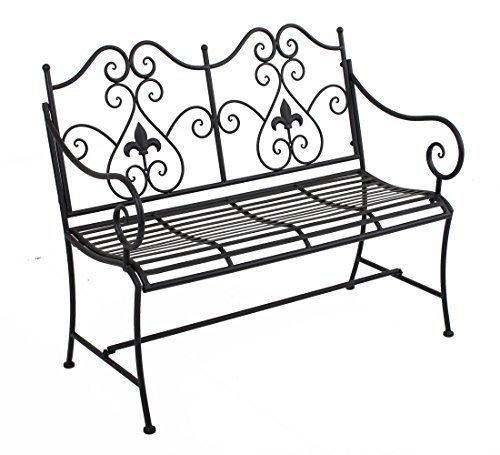 Vintage Gartenbank Metall Bank Parkbank 2 Sitzer Modell 105 x 56 x 90 cm