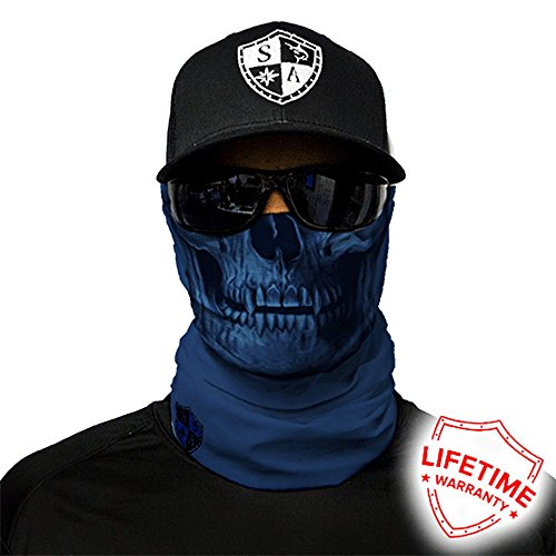 Preisvergleich Produktbild Sa Company USA Face Shield Halstuch Bandana Gesichts- Maske Mütze Multifunktionstuch, Face Shields:Tactical Navy Skull