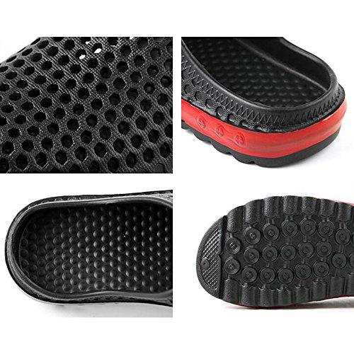 Eastlion Sommer Männlich Und Weiblich EVA Paar Strand Schuhe Freizeit Rutschfeste Halbe Hausschuhe Männlich Dunkelblau
