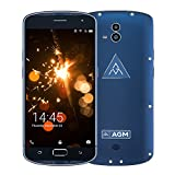 "AGM X1 Smartphone 4G IP68 Impermeable Antigolpes Anti-Polvo Qualcomm MSM8952 Octa Core 4GB & 64GB Batería 5400mAh 5,5"" AMOLED 1920 x 1080 FHD 13MP Dual Cámara Trasera & 5MP Cámara Frontal, Azul"