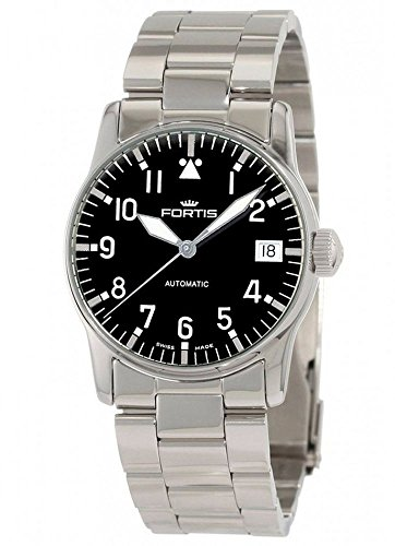 Fortis Aviatis Flieger Lady Automatic Stainless Steel Womens Watch Calendar 621.10.91 M