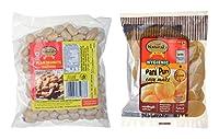 Naturals Bite Hygienic Panipuri and Salted Peanuts, 380 grams (Combo of 2)