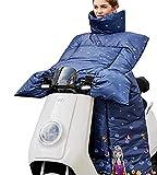 Icegrey Beinabdeckung Beinschutz Mit Fleece Gefütterte und Mundmaske,Motorradlenker-Stulpen Handschuhe für Roller und Motorrad Wetterschutz Nässeschutz für Rollerfahrer Blau