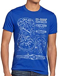 style3 Faucon Millenium Homme T-Shirt bleu darth solo han corellienne