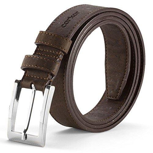 Corkor Cintura Da Uomo Prodotti Vegani di Sughero Naturale Vegan Marrone Taglia M