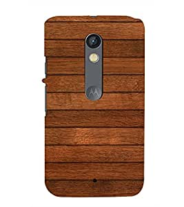 Fuson Colorful Wodden Pattern Case Cover for Motorola Moto X play