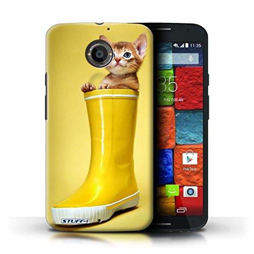 Kobalt® Imprimé Etui / Coque pour Motorola Moto X (2014) / Blanc et moelleux conception / Série Chatons mignons Botte en caoutchouc