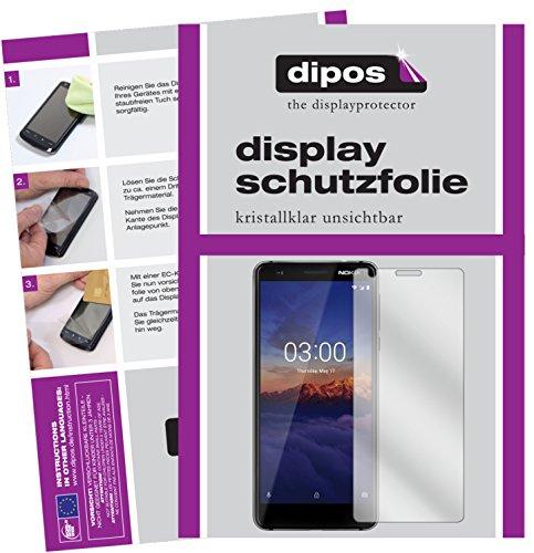 dipos I 2X Schutzfolie klar passend für Nokia 3.1 Folie Bildschirmschutzfolie