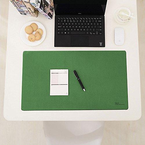 Schreibtisch Mats, ashipher Schreibtisch Pads & Displayschutzfolie Maus Pads PU Leder Matte für Desktops und Laptops, 63,5x 35,6cm 25''x14'' grün - Reversible Wasser