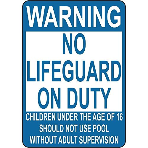 Lifeguard Club (Metal Sign 12x16 inches Metal Room Sign Warning No Lifeguard On Duty Children Not Use Pool Aluminum Wall Poster Yard Fence Decor Sign Gift)