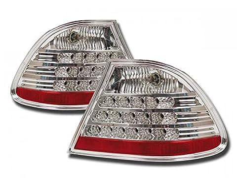 at71762–Feux arrière LED pour BMW Série 3Coupé type E46Transparent/Rouge