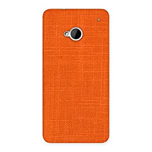 Orange Texture Back Case Cover for HTC One M7