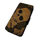 Aztec Skull–Paisley Goth gelb–Flip-Telefon Schutzhülle Samsung Galaxy S8