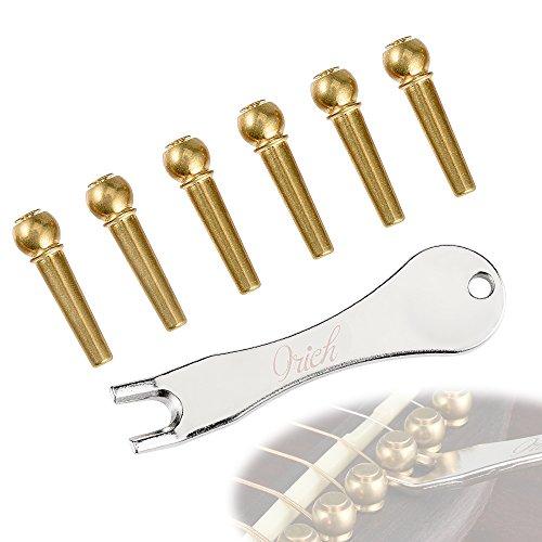 IRICH Kupfer Gitarre Bridge, Brücke Pins Puller Remover Extractor Peg Werkzeug für Ukulele, E-Gitarre, Bass, Akustik und Westerngitarre