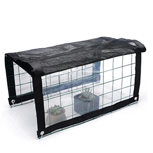 NAN Maille résistante UV d'ombre de Sunblock + Tissu Transparent, Panneau Anti-Pluie de Grillage de Stores pour la Serre végétale, Grange, chenil Voiles d'ombrage (Taille : 100 * 48 * 36CM)