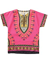 0b6d469fc5b0b CUTUDE Vetement Fille Garçon Enfant Manches Courtes T-Shirts Adolescent  Unisexe Décontractée Africain Style Ethnique
