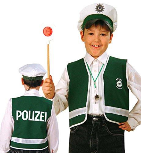 Spiel Weste Polizei, Polizist für Kinder diverse Größen (128) (Baby Polizist Kostüme)