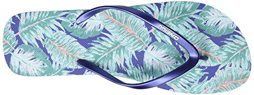 O'Neill Fw Printed Flip Flop, Tongs femme Blau (Blue Allover Print W/ Green)