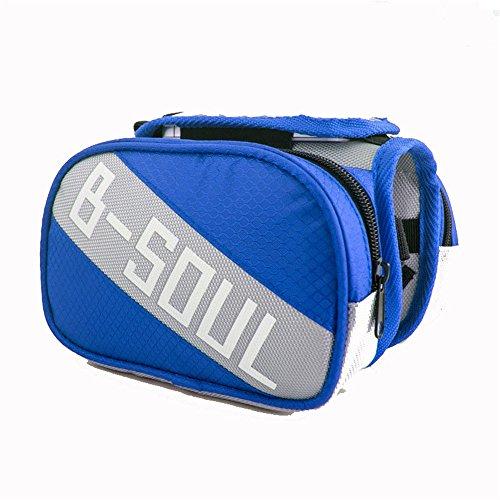 Gimitunus Leicht Zubehör Sattelstütze Tasche Schwanz Hinten Tasche Fahrrad Tasche Fahrrad Satteltasche regendicht MTB Rennrad Für die Meisten Fahrräder (Farbe : Blau)