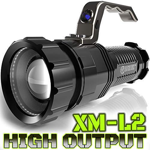 Linterna táctica de 2.800 lúmenes, alta salida, recargable, foco de luz solar a foco, X-Lamp XM-L2 CREE LED (20{ab2187064c88122962188df8e8c70e63567dba500170b66eab3a51ea4ff9273d} más brillante que T6 LED)
