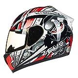 JIE KE Motorradhelm, Adult Full Face Helm Full Coverage Racing Helm für Erwachsene Männer Frauen mit Abnehmbaren Futter (Farbe : Blau, größe : L)