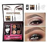 Augenbrauen Make-up Set, Augenbrauenpuder + Augenbrauenstift + Augenbrauenbürste + Augenbraue Schablonen Makeup Box Kit für Perfekte Augenbrauen Weihnachtsgeschenk von Pretty Comy