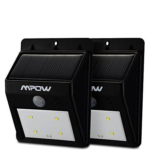 Mpow Luci Solari Lampada Wireless ad Energia Solare da Esterno con 8 Lampadine LED di Sensore di Movimento, per Parete / Giardino / Cortile / Scale / Muro, con Funzione di Dusk to Dawn Dark Sensing Auto On / Off - 8LED(2 Pezzi)