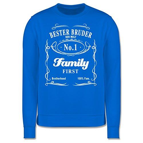 Bruder & Onkel - Bester Bruder Lettering - Herren Premium Pullover Himmelblau