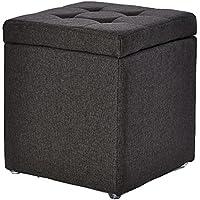 Preisvergleich für Lagerung Hocker LXF Tuch-Speicher-Schemel-Ottoman-Couchtisch-Sofa-Schemel-Spielzeug-Kasten-Schemel-Grau (Farbe : Dunkelgrau)