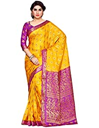 Mimosa Women's Silk Saree With Blouse Piece (4141-206-2D-Gld-Lev_Yellow)